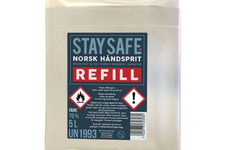 Hånddesinfeksjon 5 liter